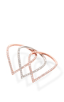 Sloped Pave Tear Drop Ring Set by FALLON Now Available on Moda Operandi