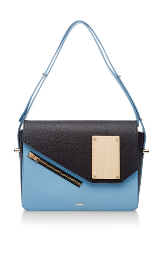 Medium perrin light blue carre shoulder bag