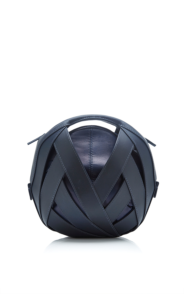 350a1a95363 Perrin ParisSmall Leather Ball Bag in Navy. CLOSE. Loading. Loading. Loading