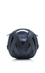 Small Leather Ball Bag In Navy by PERRIN PARIS Now Available on Moda Operandi