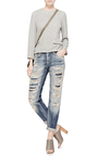 Shredded Mid Rise Relaxed Fit Jeans by R13 Now Available on Moda Operandi