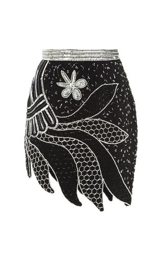 Medium rodarte multi black and silver hand beaded skirt