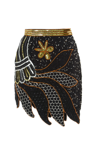 Silver And Gold Hand Beaded Skirt by RODARTE Now Available on Moda Operandi