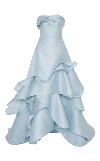 Medium carolina herrera blue gazaar wave gown