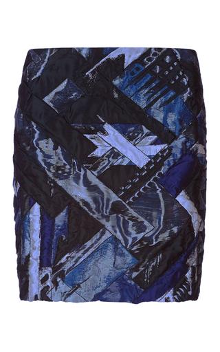 Medium antonio berardi print metallic patchwork mini skirt