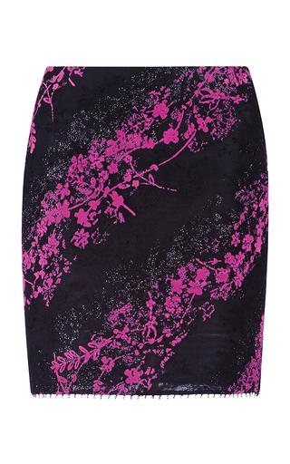Medium antonio berardi print hot pink micro floral mini skirt