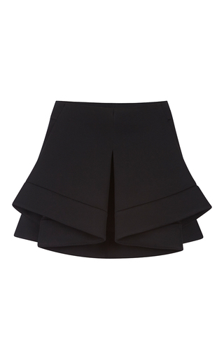 Medium antonio berardi black origami layered mini skirt