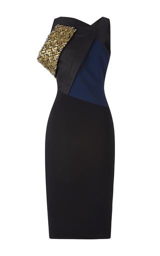 Medium antonio berardi multi embroidered shoulder color block dress
