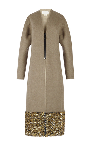 Medium antonio berardi multi light beige embroidered coat