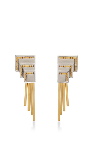 Medium monica sordo gold anuket baby earring
