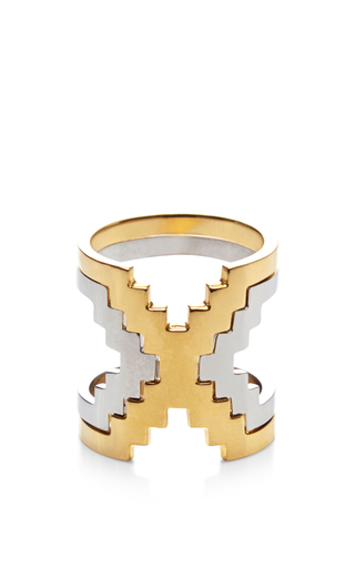 Medium monica sordo gold kavanagh ring