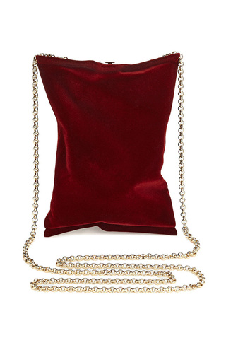 Medium anya hindmarch red crisp packet clutch flocked in medium red brass