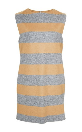 Medium katie ermilio print cashmere striped mini dress