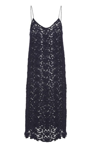 Floral Wool Lace Slip Dress by KATIE ERMILIO Now Available on Moda Operandi