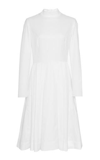 Mock Neck Pleated Shirt Dress by KATIE ERMILIO Now Available on Moda Operandi