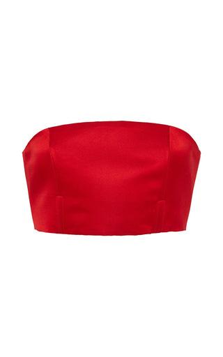 Medium katie ermilio red bandeau corset shell