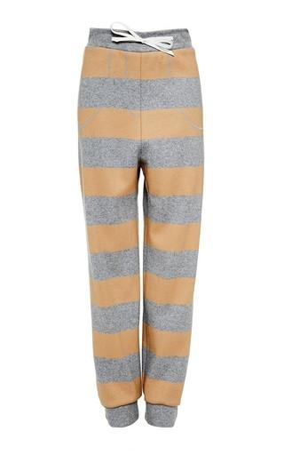Medium katie ermilio print cashmere stripe varsity sweatpant