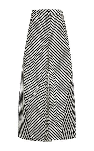 Medium rosie assoulin black silk organza paper plane pant