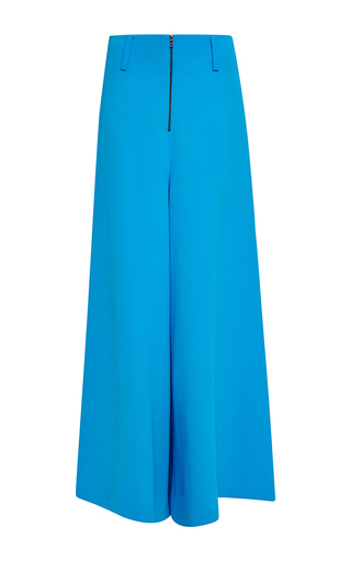 Medium rosie assoulin blue silk crepe wide leg pant