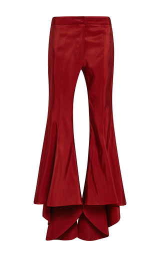 Medium rosie assoulin red silk faille tilt a whirl pant
