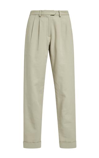 Medium rosie assoulin brown heavy cotton twill big girl pants