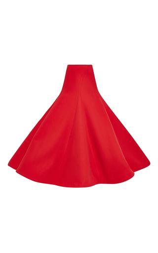 Medium rosie assoulin red cotton crepe gramophone skirt