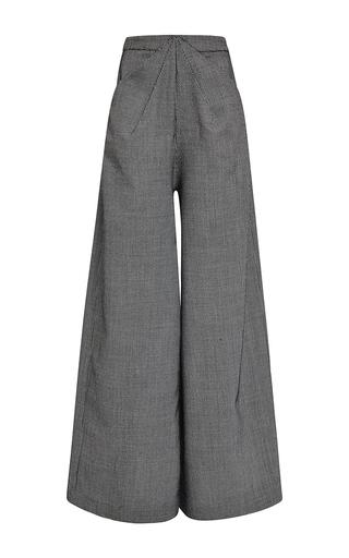 Medium rosie assoulin dark grey houndstooth wool ziggy pants