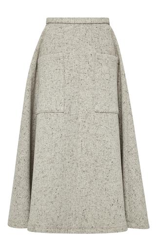 Medium rosie assoulin dark grey wool melange pocktail skirt