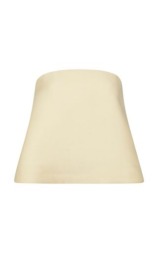 Medium rosie assoulin yellow wool cotton blend lamp shade top
