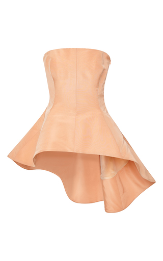Medium rosie assoulin orange silk faille tilt a whirl top