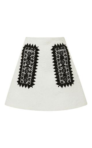 Medium giamba white a line skirt with geometric embroidery