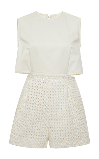 Medium giamba white eyelet all short