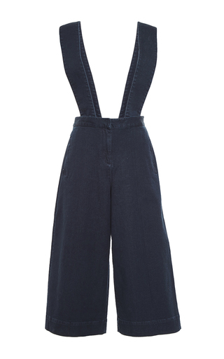 Medium tibi blue denim overalls with removable straps