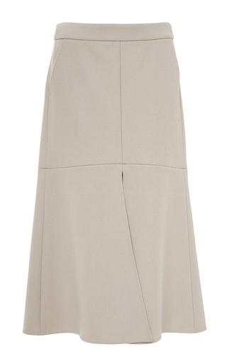 Medium tibi brown siku felted wool front slit midi skirt
