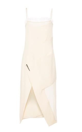 Medium prabal gurung white slip dress with chiffon and lace trim