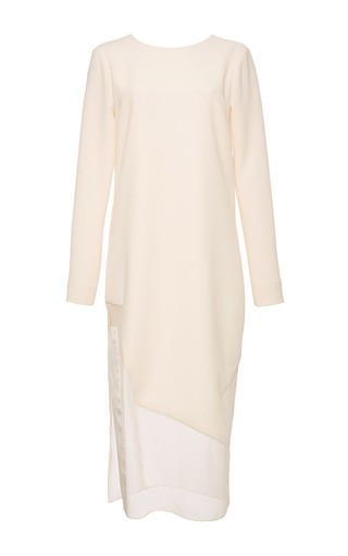Plunge Back Dress With Graphic Hem by PRABAL GURUNG Now Available on Moda Operandi