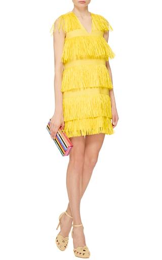 Flavia Acrylic Striped Clutch by EDIE PARKER Now Available on Moda Operandi