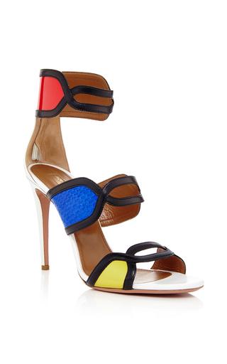Medium aquazzura multi its gorgeous 105mm heel sandal in multi