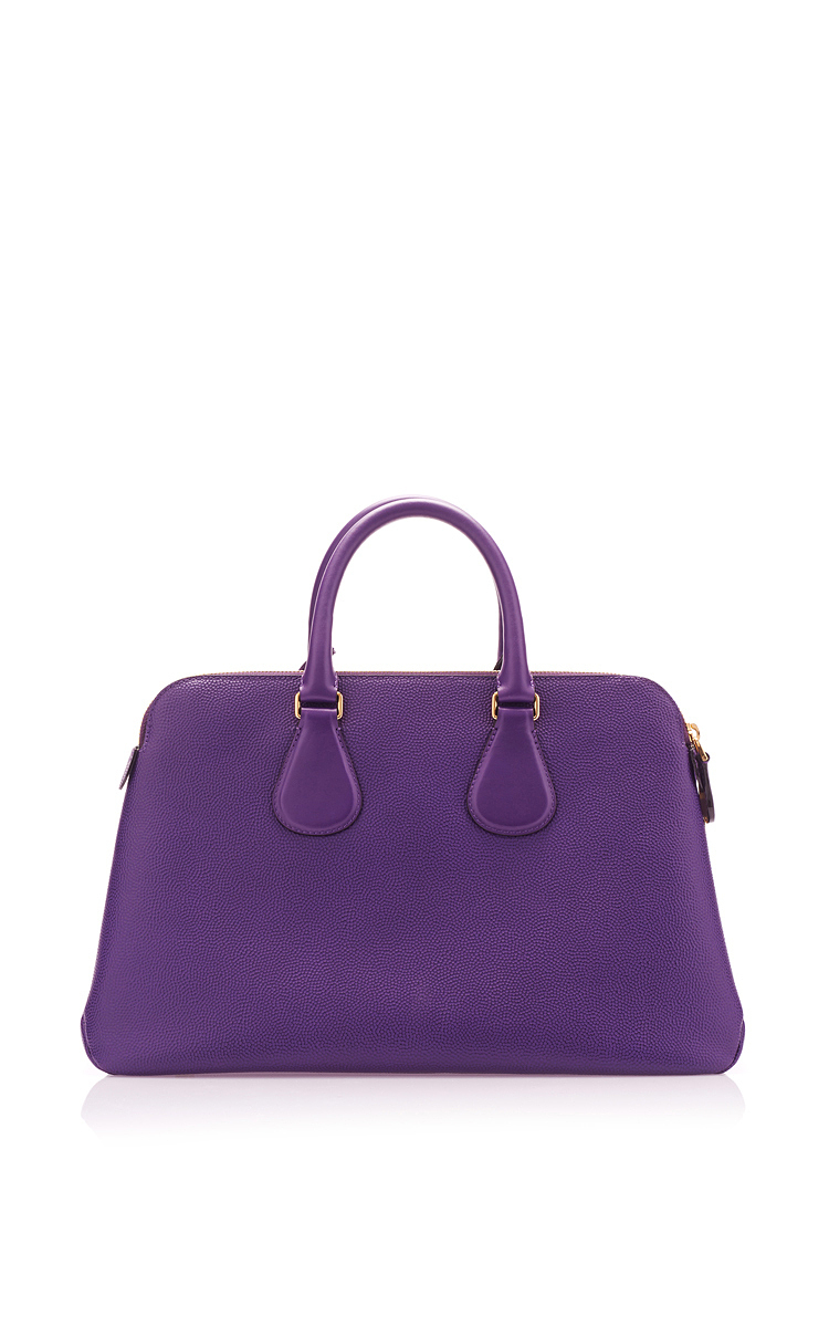 Purple Leather Tote Bag by Bally  b23f57a10d3ad