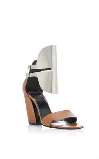 Medium pierre hardy gold scarpa open heel