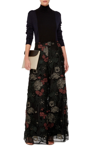 Floral Filigree Embroidered Palazzo Pants by ROSETTA GETTY Now Available on Moda Operandi
