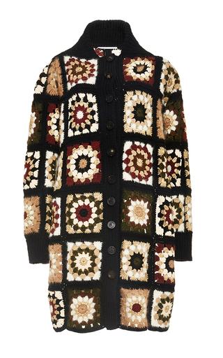Medium rosetta getty multi mixed media granny square cardigan