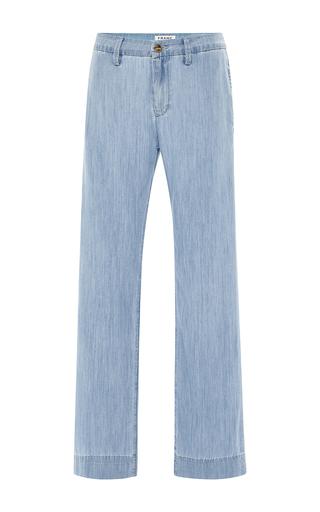 Medium frame denim medium wash le straight trouser