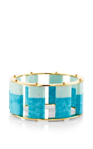 Medium lele sadoughi blue turquoise tall stackable bangle