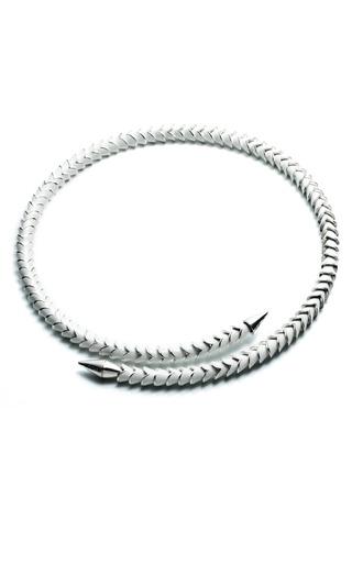 Medium eddie borgo silver scaled heart necklace