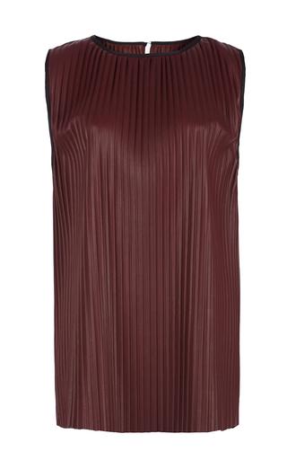 Medium barbara casasola burgundy bordeau pleated tank top