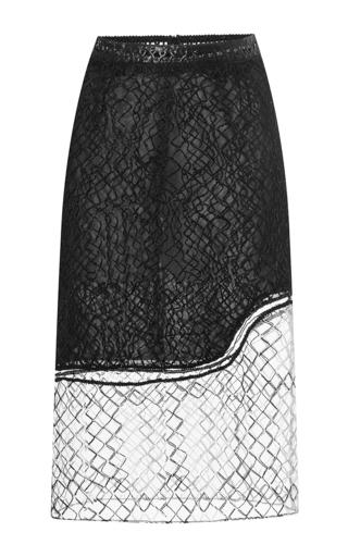 Medium jonathan simkhai black wire lace pencil skirt