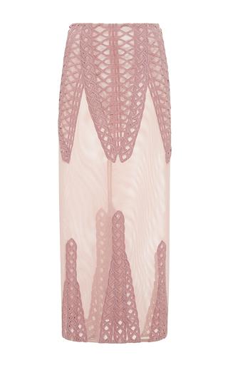 Medium jonathan simkhai pink tread lace inset angel skirt