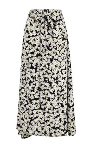 Medium sea multi printed daisy wrap skirt