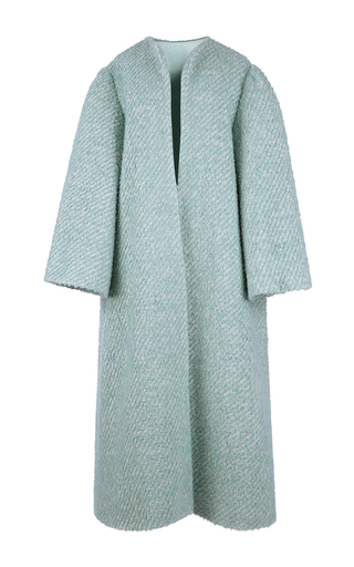 Medium emilia wickstead blue boucle helena coat